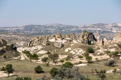 Stone formations, Fairy Chimneys in Cappadocia Royalty Free Stock Image