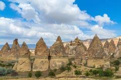 Stone formations fairy chimneys in Cappadocia Stock Photography