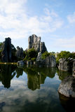 Stone forrest. The stone forrest near Kunming in China royalty free stock images