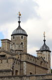 Stone fortress of the Tower of London Stock Images