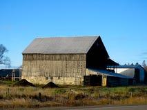 Stone foundation old barn Royalty Free Stock Image