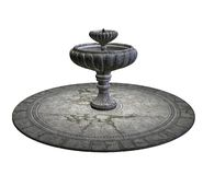 Stone fountain vector illustration