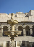 Stone fountain. Church La Compania , Arequipa, Per Stock Photography
