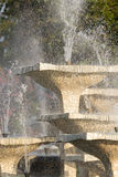 Stone fountain with dripping water outdoor Royalty Free Stock Photography