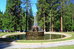 Stone Fountain in Forest Royalty Free Stock Photos