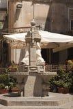 Stone fountain fragment stock photo