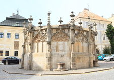 Stone Fountain in Kutna Hora Royalty Free Stock Image