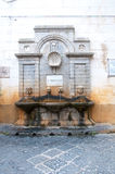 Stone fountain located in pizzo calabro Royalty Free Stock Images