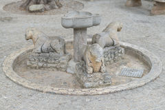 Stone fountain. Stock Images