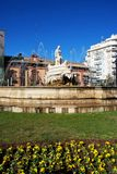 Stone fountain, Seville, Spain. Royalty Free Stock Image
