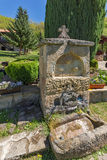 Stone fountain in Temski monastery St. George, Pirot, Republic of Serbia Royalty Free Stock Images