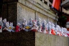 Stone fox at Fushimi Inari shrine,Kyoto Japan Royalty Free Stock Photos