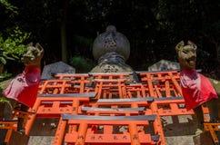 Stone fox at Fushimi Inari shrine,Kyoto Japan Royalty Free Stock Image