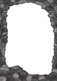 Stone frame. Drawing of grey stone frame Stock Photo