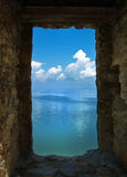 Stone frame of sea landscape Stock Photo