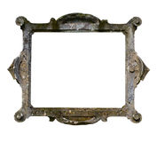 Stone frame on white background Royalty Free Stock Photography