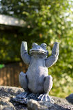 Stone frog Royalty Free Stock Photo