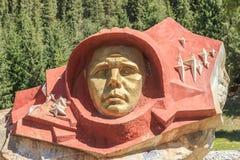 Stone Gagarin, Barskoon Gorge. Issyk Kul region, Kyrgyzstan.  stock photography