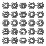 Stone game buttons Royalty Free Stock Images