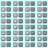 Stone game icons buttons, icons, interface Stock Photos