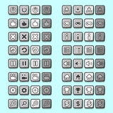 Stone game icons buttons icons, interface, ui Royalty Free Stock Images