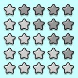 Stone game rating stars icons Royalty Free Stock Image