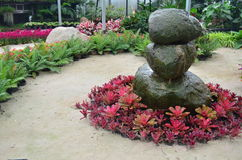 Stone in garden. Take a Photo with Dasada Gallery path Bigmountian Prachin Buri Province Stock Photo