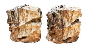 Stone for garden decoration. Isolated on white background with clipping path stock photos