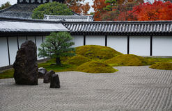 Stone Garden in Kyoto Japan Stock Images