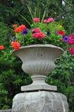Stone garden planter Royalty Free Stock Photos