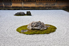 Stone Garden at Ryoanji Temple in Kyoto Japan Royalty Free Stock Photos
