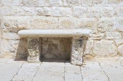 Stone garden seat. Royalty Free Stock Image