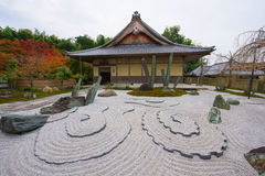 stone garden and shrine at Enkoji Temple in Kyoto Stock Images