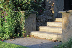 Stone garden steps Stock Photo