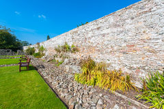 Stone garden wall Royalty Free Stock Images