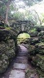 Stone Gardenns Walk this way. Stone path at Sonnenberg Gardes NY Stock Photography
