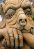 Stone Gargoyle. Facial expression of a stone gargoyle stock image