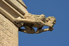 Stone Gargoyle Royalty Free Stock Photography