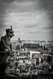 Stone Gargoyles of Notre Dame Stock Images