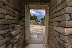 Stone gate. Afrodisias is a stone gate that protects itself from day to day Stock Photos