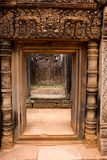 Stone Gate Banteay Srei Temple Stock Photo