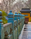 Stone gate in China. Chinese Stone gate at Ling Yin Temple in China Royalty Free Stock Image