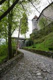 Stone gate at the entrance of at Bled castle in Bled Royalty Free Stock Photo