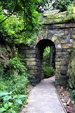 Stone Gate. Old stone gate in the middle of the forest Royalty Free Stock Images
