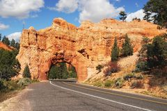 Stone Gate, Red Canyon, Utah. View on stone gate in Red Canyon Royalty Free Stock Photography