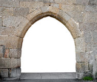 Stone gate. With space for your text Royalty Free Stock Photo