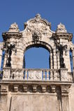 Stone gateway to the Buda Castle in Budapest Royalty Free Stock Photo