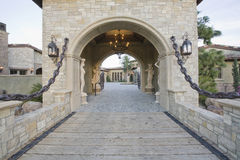 Stone Gateway To Home Royalty Free Stock Image