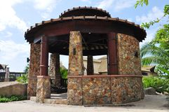 Stone gazebo. Stock Images