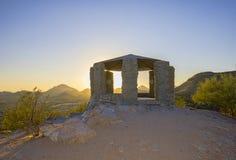 Free Stone Gazebo At The Summit Of Sentinel Peak In Tucson, Arizona Royalty Free Stock Photo - 200984765